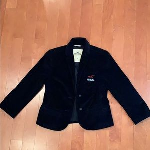 holister, black soft blazer, size medium.